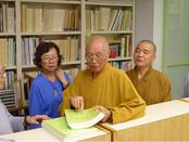 一位八十四歲的老和尚──淨海長老,自美國德州來臺灣,今日(10月2日)特地來本館查找資料,為的是要將民國71年出版的《南傳佛教史》和《佛教在西方各國的傳播》二書